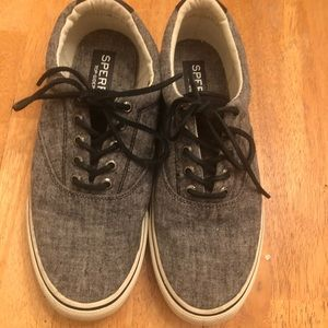 Sperry top sider lace up sneakers nice Men's Sz 9M